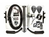 Стекла двери кабины на УАЗ 452 Буханка сплошное (цельное) с электро стеклоподъемником Autogur73
