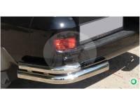 Защита заднего бампера (дуга) TOYOTA LAND CRUISER PRADO 120 (2003-2009) уголки двойные 0820 TY0503DPA1