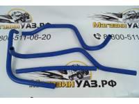 Комплект силиконовых патрубков отопителя (печки) УАЗ-3163 Патриот дв. ЗМЗ 409