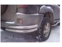 Уголок - защита заднего бампера УАЗ Патриот 2015 двойная труба